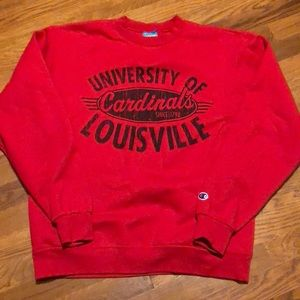 💥Vintage Champion Sweatshirt Louisville Cardinals